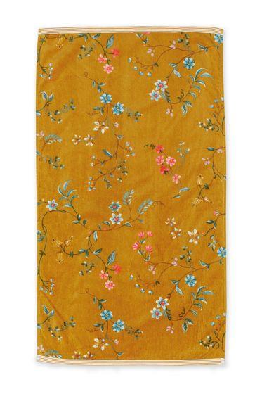 Bath-towel-floral-yellow-55x100-les-fleurs-pip-studio-cotton-terry-velour