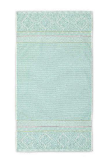 Baddoek Soft Zellige Blauw 55x100 cm