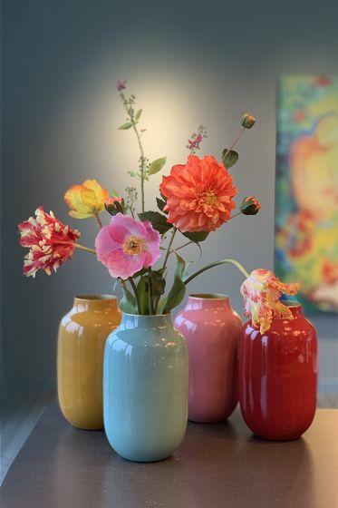 Muttertagsstrauß + Blauwe Vase