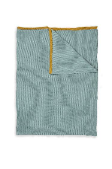 Plaids-blue-yellow-quilts-blanket-130x170-throw-bonsoir-pip-studio-knitted