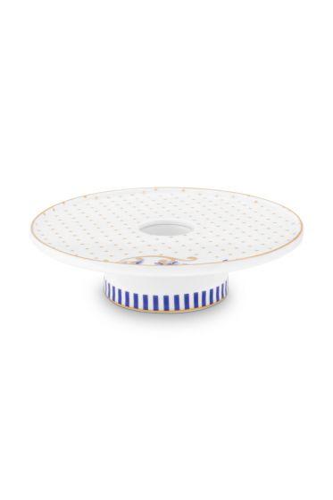 porselein-kaarsenhouder-wit-royal-stripes-collection-pip-studio-14-cm