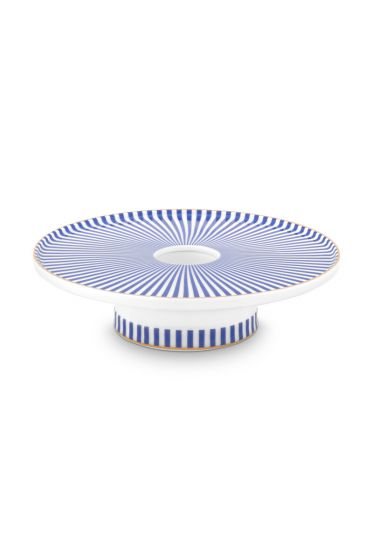 porcelain-candle-tray-blue-white-royal-stripes-collection-pip-studio-14-cm