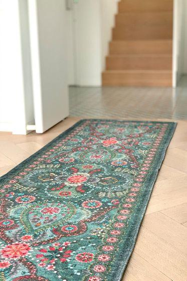 Teppich-läufer-grün-vintage-look-moon-delight-pip-studio-Baumwolle-280x80