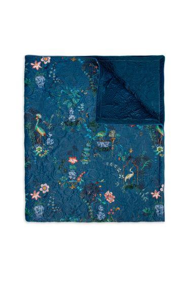 quilt-throw-blanket-plaid-velvet-blue-botanical-chinese-porcelain-180x260-220x260-polyester