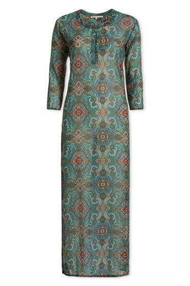 Kleid mit 3/4-Ärmeln Moon Delight Dunkelgrün