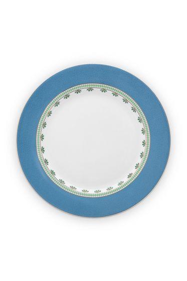 essteller-la-majorelle-aus-porzellan-mit-blumen-in-blau-26,5-cm