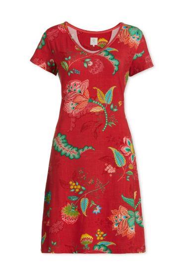 Nightdress short sleeve Jambo Jasmin Red