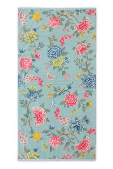 Douchelaken-handdoek-xl-bloemen-blauw-70x140-good-evening-pip-studio-katoen-terry-velour