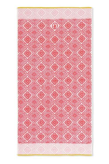 Bath-towel-xl-dark-pink-bohemian-70x140-jacquard-check-pip-studio-cotton-terry-velour