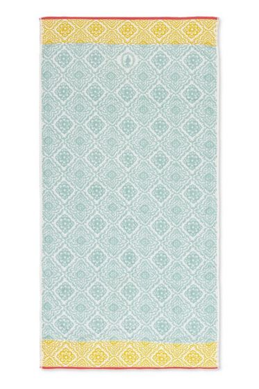Bath-towel-xl-light-blue-bohemian-70x140-jacquard-check-pip-studio-cotton-terry-velour