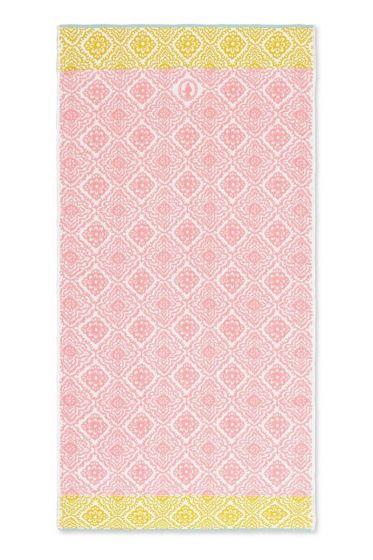 Bath-towel-xl-pink-bohemian-70x140-jacquard-check-pip-studio-cotton-terry-velour