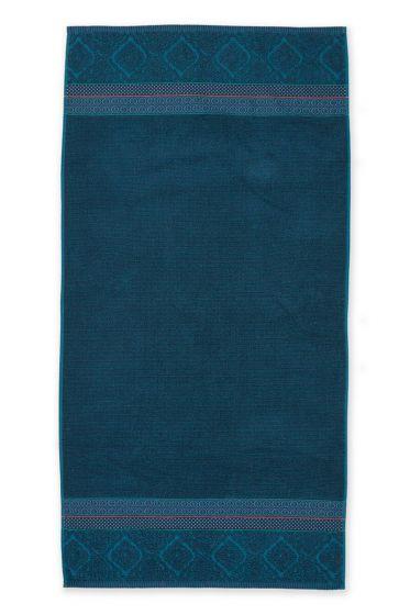 Duschlaken-handtuch-xl-dunkel-blau-70x140-soft-zellige-pip-studio-baumwolle-velours-frottier