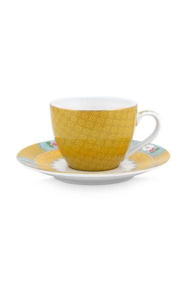 espresso-kop-en-schotel-blushing-birds-van-porselein-in-geel