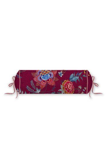 nackenrolle-flower-festival-dunkel-red-blumen-pip-studio-22x70-cm-225503