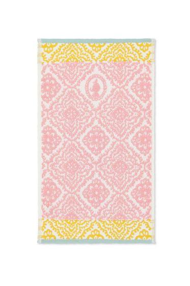 Guest-towel-pink-30x50-jacquard-check-pip-studio-cotton-terry-velour