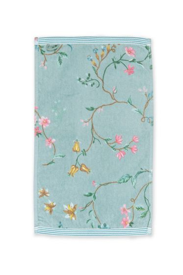 Guest-towel-blue-30x50-les-fleurs-pip-studio-cotton-terry-velour