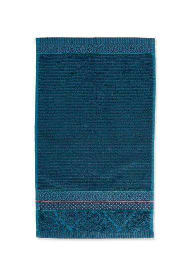 Gastendoek-donker-blauw-bloemen-30x50-soft-zellige-pip-studio-katoen-terry-velour
