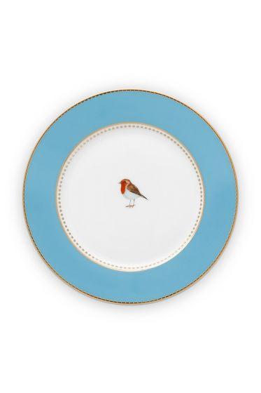 gebäcksteller-love-birds-in-blau-mit-vogel-17-cm