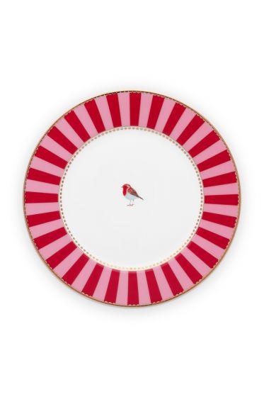 Gebäck-teller-17-cm-rot-rosa-goldene-details-love-birds-pip-studio