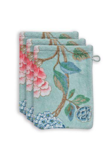 washandje-set/3-bloemen-print-blauw-16x22-cm-good-evening-katoen