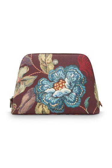 gross-kosmetiktasche-poppy-stitch-in-burgundy-mit-blumen-design-und- reissverschluss