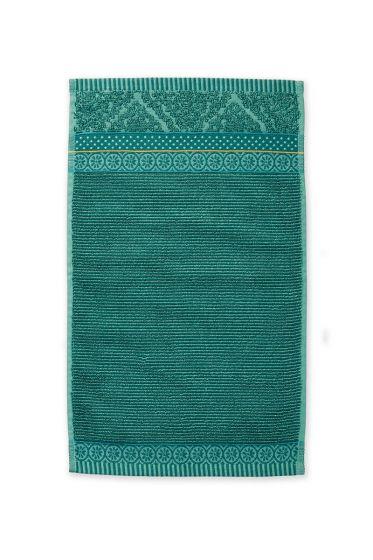 Gästetuch-grün-blumen-30x50-soft-zellige-pip-studio-baumwolle-velours-frottier