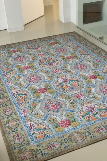 Vloerkleed-tapijt-bohemian-pastel-geel-melody-pip-studio-155x230-200x300