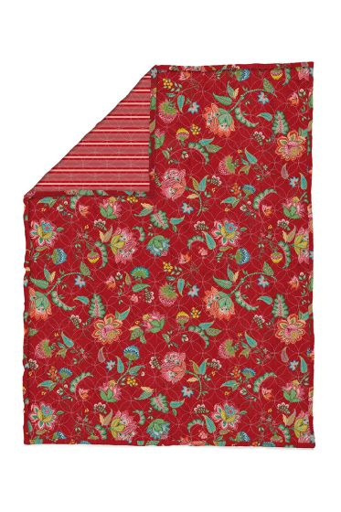Quilt-Plaids-red-quilts-blanket-130x170-throw-jambo-flower-pip-studio-knitted