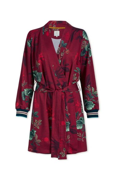 Kimono Leafy Stitch Rood