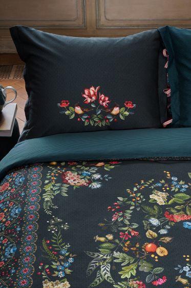 kussensloop-forest-carpet-donker-blauw-bloemen-pip-studio-60x70-40x80-katoen
