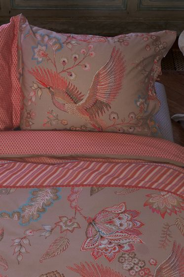 pillowcase-royal-birds-khaki-flowers-pip-studio-60x70-40x80-cotton