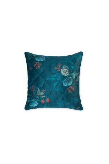 kissen-velvet-blau-blumen-quadratisches-Kissen-gesteppt-leafy-stitch-dekokissen-pip-studio-45x45-baumwolle