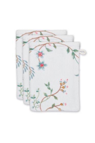 washandje-set/3-bloemen-print-wit-16x22-cm-les-fleurs-katoen