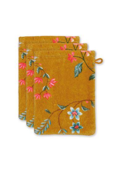 Washcloth-floral-set/3-print-yellow-16x22-cm-pip-studio-les-fleurs-cotton