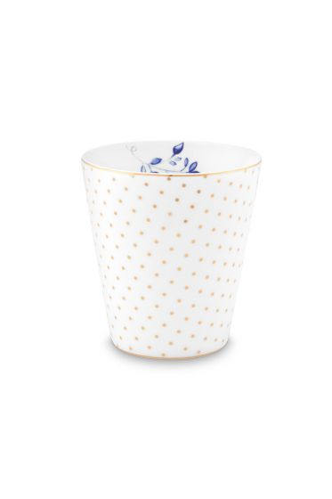 mug-small-without-ear-royal-dots-white-230-ml-6/48-pip-studio-51.002.240