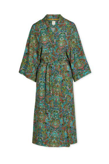 Kimono-green-floral-pippadour-pip-studio-cotton-linnen