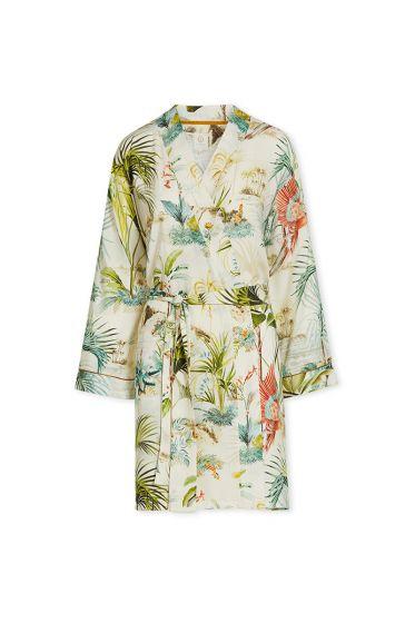 Kimono-off-white-floral-palm-scenes-pip-studio-cotton-linnen