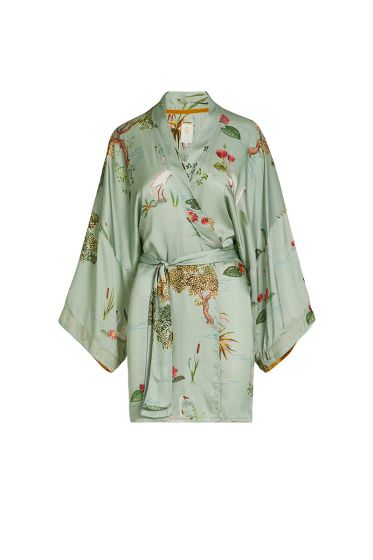 Kimono-hell-grün-blumen-swan-lake-big-pip-studio-baumwolle-leinen