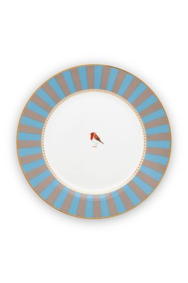 breakfast-plate-love-birds-in-blue-and-khaki-with-bird-21-cm