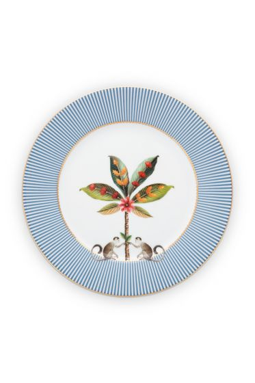 breakfast-plate-la-majorelle-made-of-porcelain-with-a-palm-tree-in-blue-21-cm