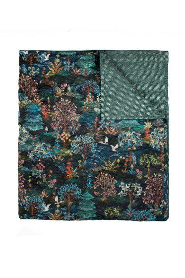 quilt-sprei-plaid-velvet-donker-blauw-botanisch-pip-garden-180x260-200x260-polyester