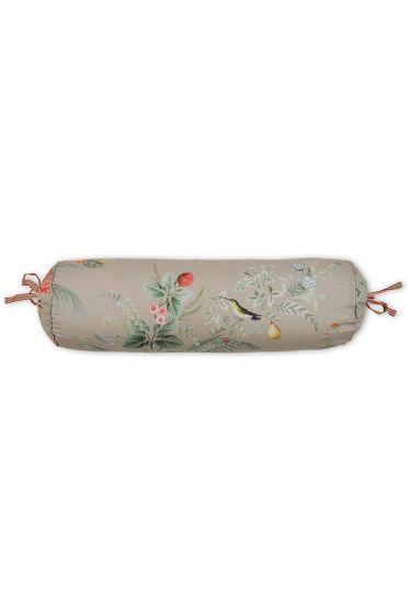 cushion-khaki-floral-neck-roll-cushion-decorative-pillow-floris-pip-studio-22x70-cotton