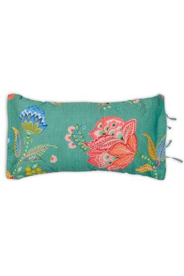 kissenbezug-grün-blumen-rechteck-jambo-flower-dekokissen-pip-studio-35x60-baumwolle