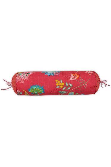 kissenbezug-rot-blumen-nackenrolle-jambo-flower-dekokissen-pip-studio-22x70-baumwolle