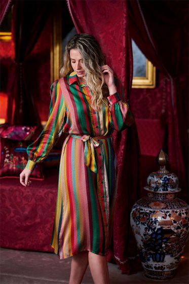 jurk-lange-mouwen-gestreept-print-multi-colour-jacquard-stripe-pip-studio-xs-s-m-l-xl-xxl