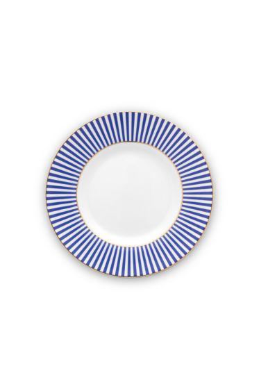 plate-royal-stripes-17-cm-6/48-blue-white-pip-studio-51.001.244