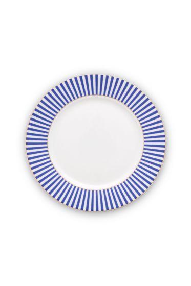 plate-royal-stripes-21-cm-6/36-blue-white-pip-studio-51.001.245