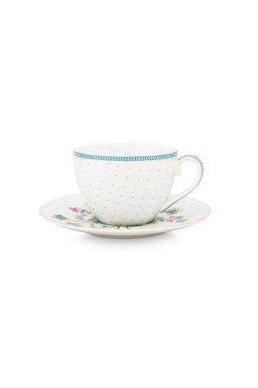 porcelain-espresso-cup-&-saucer-jolie-dots-gold-120-ml-6/48-blue-white-fs-51.004.116