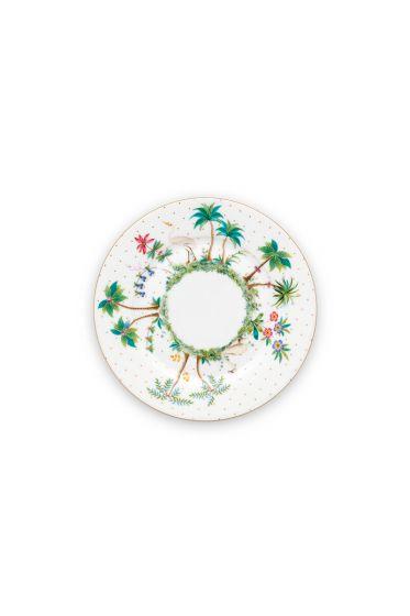 porselein-plate-jolie-flowers-17-cm-6/48-roze-rood-wit-palmtrees-pip-studio-51.001.249