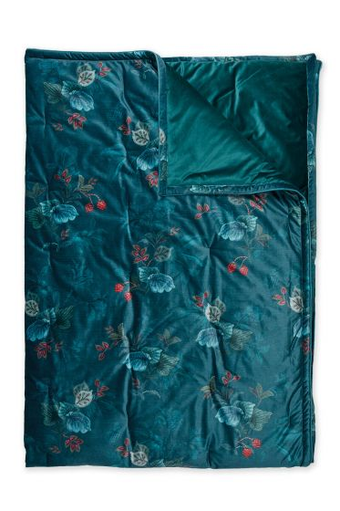 Quilt-Plaids-blauw-quilts-dekentje-130x170-throw-leafy-stitch-pip-studio-gebreid-velvet